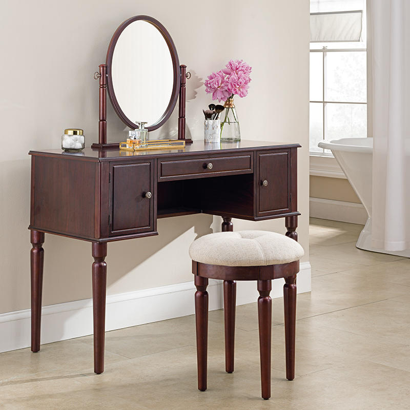 "Toaletna mizica Charlotte ""Brown"" Savoy"